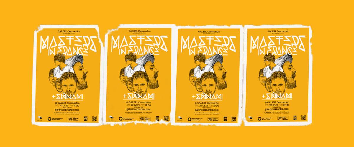 Masters in France gig poster design